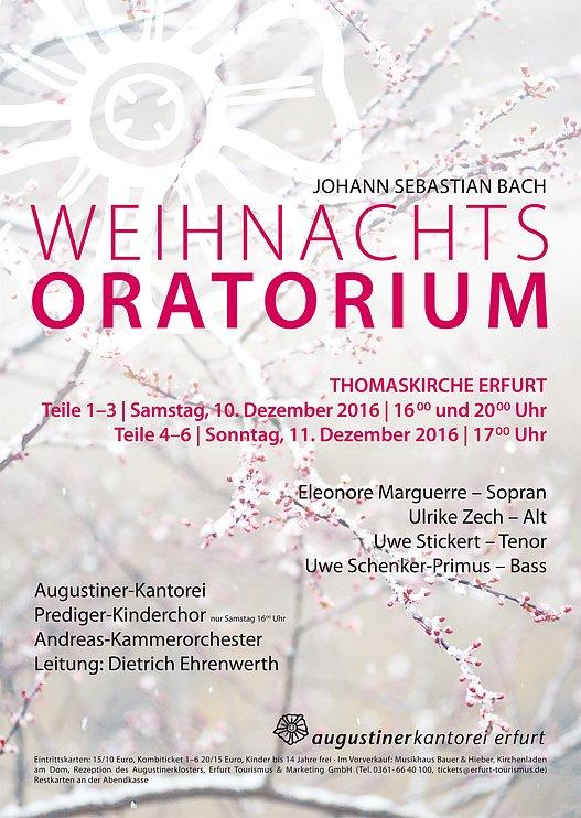 Konzertplakat - Weihnachtsoratorium 2016