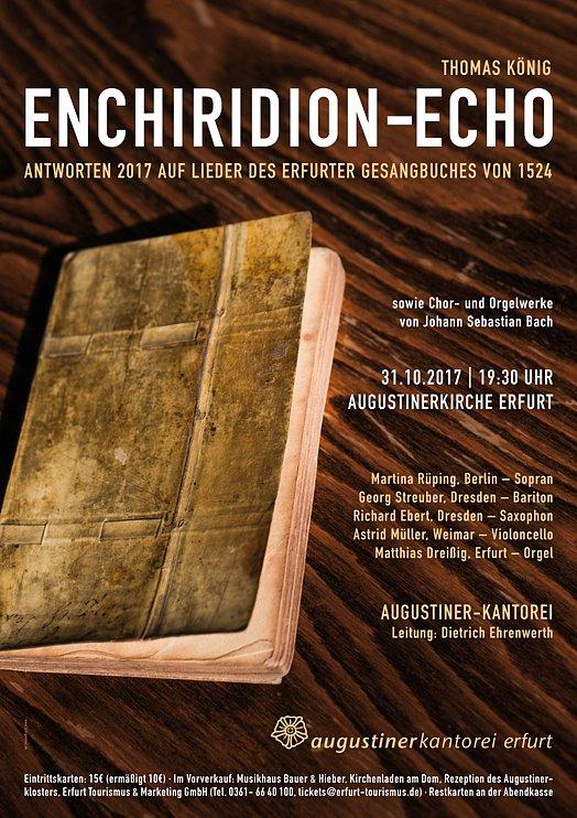 Konzertplakat - Enchiridion-Echo 10/2017