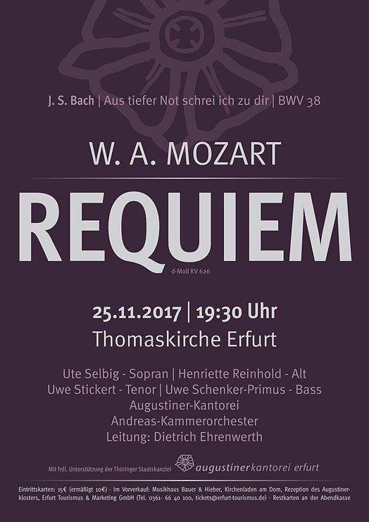Konzertplakat - Requiem 2017